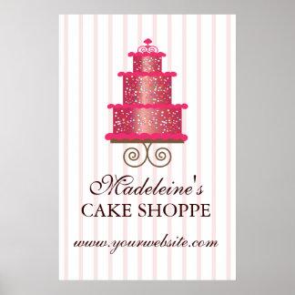 Elegant Cake Custom Bakery Business Poster