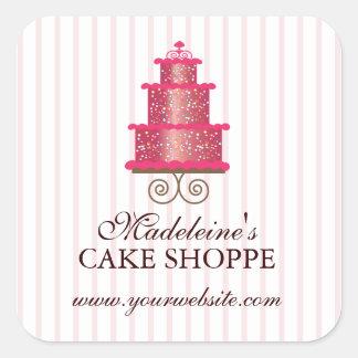 Elegant Cake Custom Bakery Business Sticker