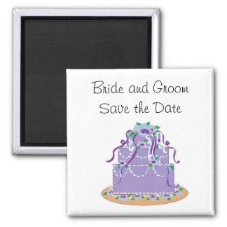 Elegant Cake Save the Date Fridge Magnet