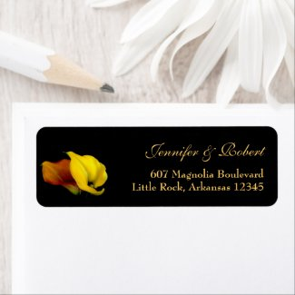 Elegant Calla Lily Address Label