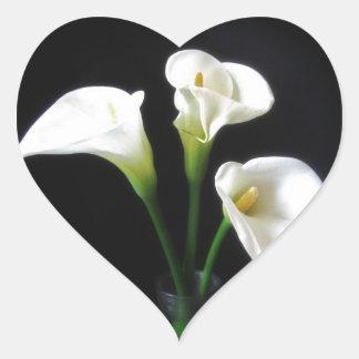 Elegant Calla Lily Flowers 10 Heart Sticker