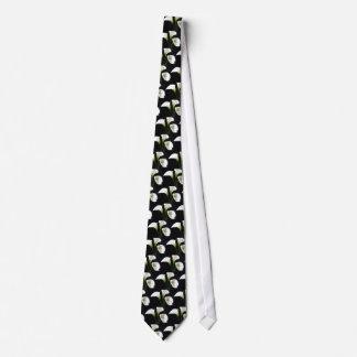 Elegant Calla Lily Flowers 10 Neck Tie