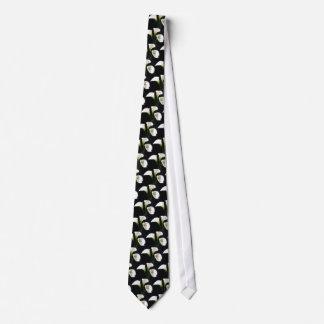 Elegant Calla Lily Flowers 10 Painterly Tie