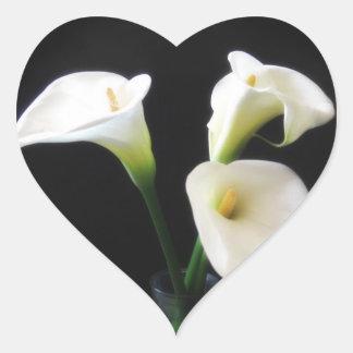 Elegant Calla Lily Flowers 12 Heart Sticker