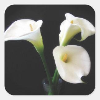 elegant calla lily flowers 12 square sticker