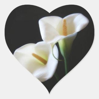 Elegant Calla Lily Flowers 13 Heart Sticker