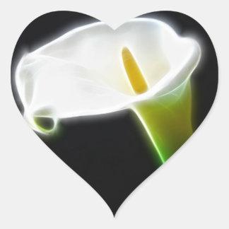 Elegant Calla Lily Flowers 15 Modern Heart Sticker