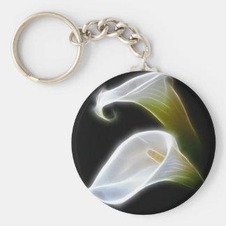 Elegant Calla Lily Flowers 4 Modern Keychain