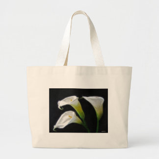 Elegant Calla Lily Flowers 7 Painterly Canvas Bag