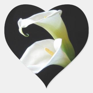 Elegant Calla Lily Flowers 8 Heart Sticker