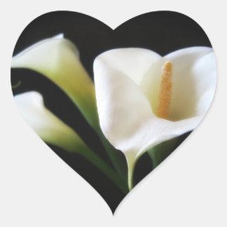 Elegant Calla Lily Flowers 9 Heart Sticker