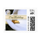 Elegant Calla Lily Our Wedding Small Postage