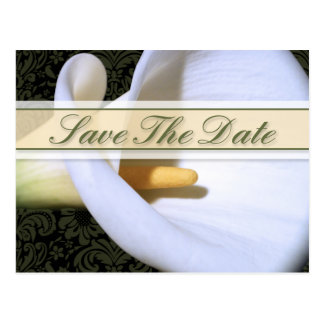 Elegant Calla Lily Save The Date Postcard