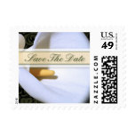 Elegant Calla Lily Save The Date Small Postage
