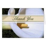 Elegant Calla Lily Thank You Card