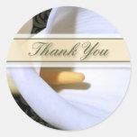 Elegant Calla Lily Thank You Sticker