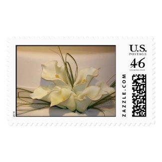 Elegant calla lily Wedding Postage stamp