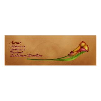 Elegant Calla Mini Business Card