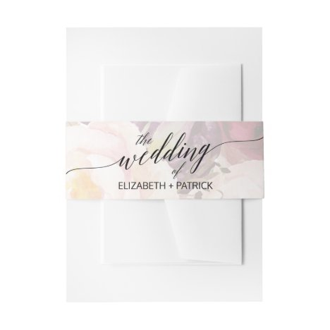 Elegant Calligraphy | Floral Wedding Belly Band