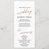 Elegant Calligraphy | Gold Wedding Program