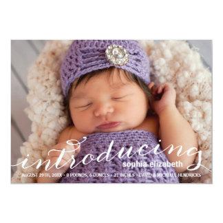 Elegant Calligraphy | Photo Birth Announcement