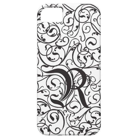 Elegant Calligraphy Vintage R Monogram iPhone SE/5/5s Case