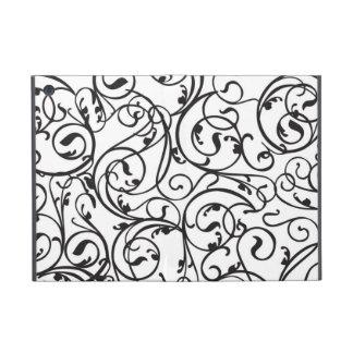 Elegant Calligraphy Vintage Scroll Black and White Case For iPad Mini
