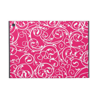 Elegant Calligraphy Vintage Scroll in Berry Cases For iPad Mini