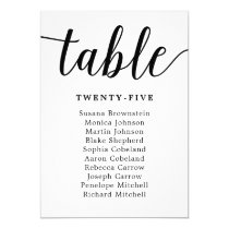 Elegant Calligraphy Wedding Guest Seating Card