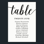 """Elegant Calligraphy Wedding Guest Seating Chart Table Number<br><div class=""""desc"""">Customize the text and background color.</div>"""