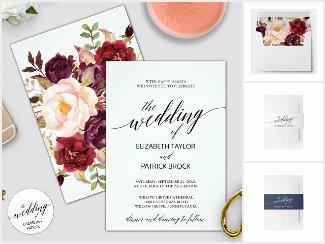 Elegant Calligraphy Wedding Invitation Collection