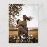 "Elegant Calligraphy Wedding Save The Date Photo Postcard<br><div class=""desc"">Elegant Calligraphy Wedding Save The Date Photo Postcard</div>"
