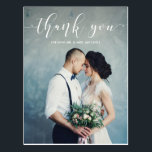 "Elegant Calligraphy | Wedding Thank You Photo Postcard<br><div class=""desc"">These beautiful postcards feature your personal wedding photo,  with the words &quot;thank you&quot; in elegant modern white calligraphy.</div>"