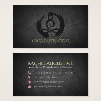 Elegant Calligraphy Yoga Meditation and ZEN Symbol Business Card