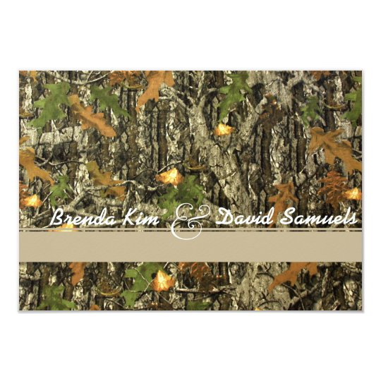 Classy Camo Wedding Ideas: Elegant Camo Hunting Wedding Invitation