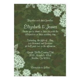 Elegant Camo Wedding Invitations Custom Announcements