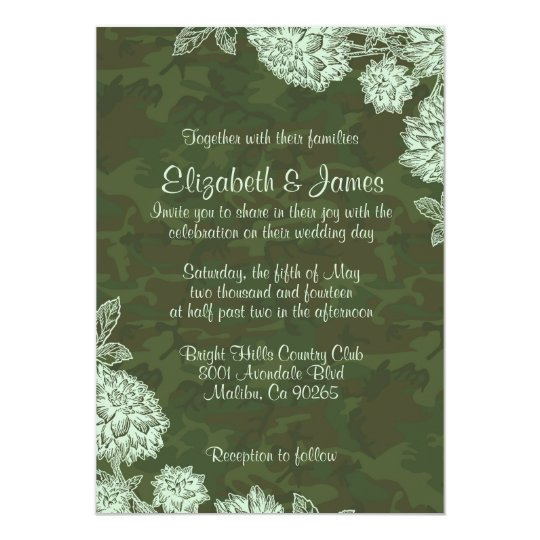 Classy Camo Wedding Ideas: Elegant Camo Wedding Invitations