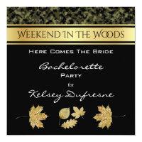 Elegant Camouflage Bachelorette Weekend Invitation
