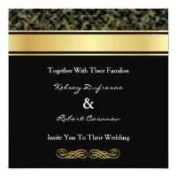 Elegant Camouflage Wedding Invitation
