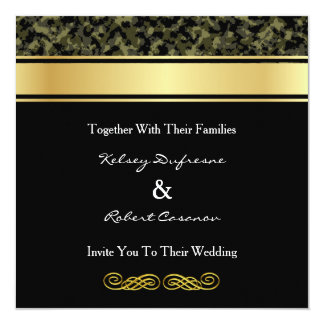 Elegant Camouflage Wedding Invitation