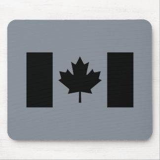 Elegant Canadian Flag in Black Mouse Pad