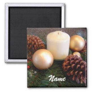 Elegant Candle Place Holder 2 Inch Square Magnet