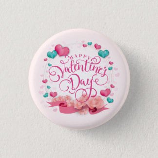 Elegant Candy Hearts Valentine's Day Button