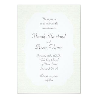 Elegant Canvas Wedding Invitation
