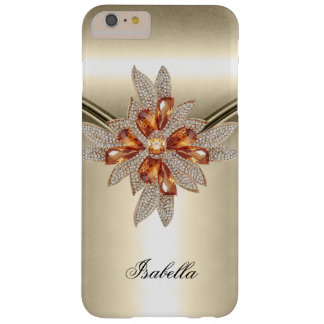 Elegant Caramel Beige Amber Jewel Barely There iPhone 6 Plus Case