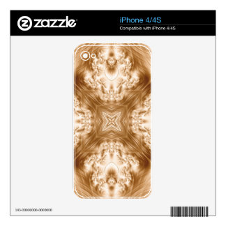 Elegant Caramel Fractal Decals For The iPhone 4S