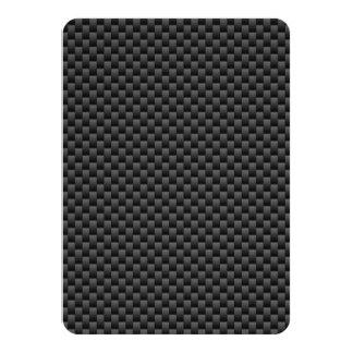 Elegant Carbon Fiber Style Print Background Card