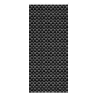 Elegant Carbon Fiber Style Print Background Rack Card