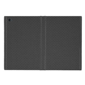 Elegant Carbon Fiber Style Print iPad Mini Covers