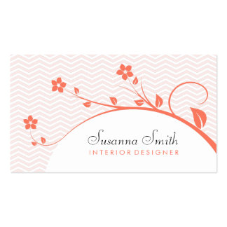Elegant card in target with flowers and chevrón business card